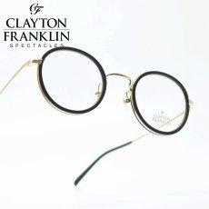 画像1: CLAYTON FRANKLIN クレイトンフランクリン 598 MBK/GP マットブラック・ゴールド/デモレンズ (1)