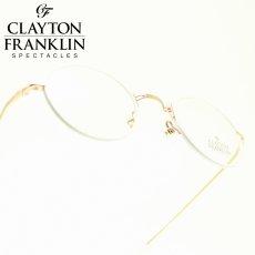 画像1: CLAYTON FRANKLIN クレイトンフランクリン 636 RG (ローズゴールド/デモレンズ)  メガネ 眼鏡 めがね メンズ レディース おしゃれ ブランド 人気 おすすめ フレーム 流行り 度付き レンズ (1)