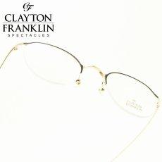 画像1: CLAYTON FRANKLIN クレイトンフランクリン 647 GP(ゴールド&デミ/デモレンズ) (1)