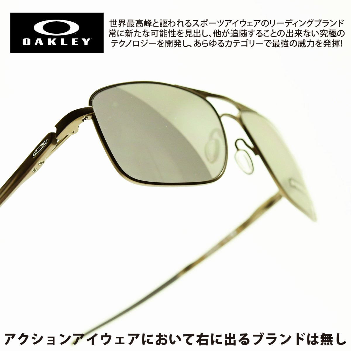 画像1: OAKLEY オークリー Gauge 6 ゲージ6 PEWTER/PRIZM BLACK POLARIZED OO6038-0657 (1)